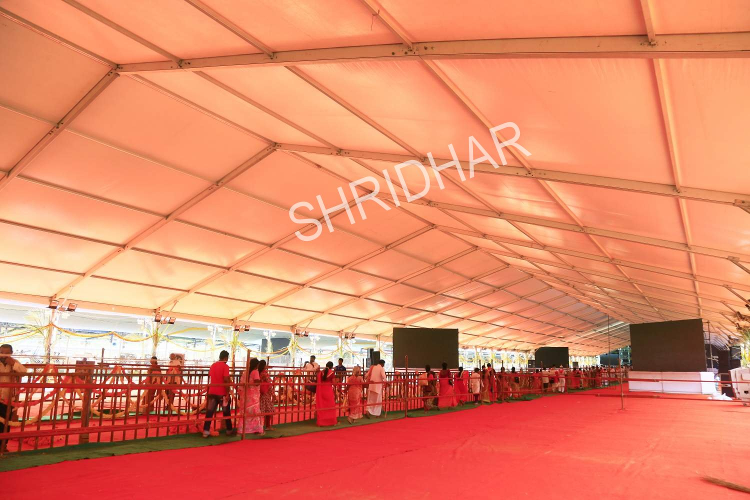 ac german hanger tent for rent for hire in bangalore shridhar tent house