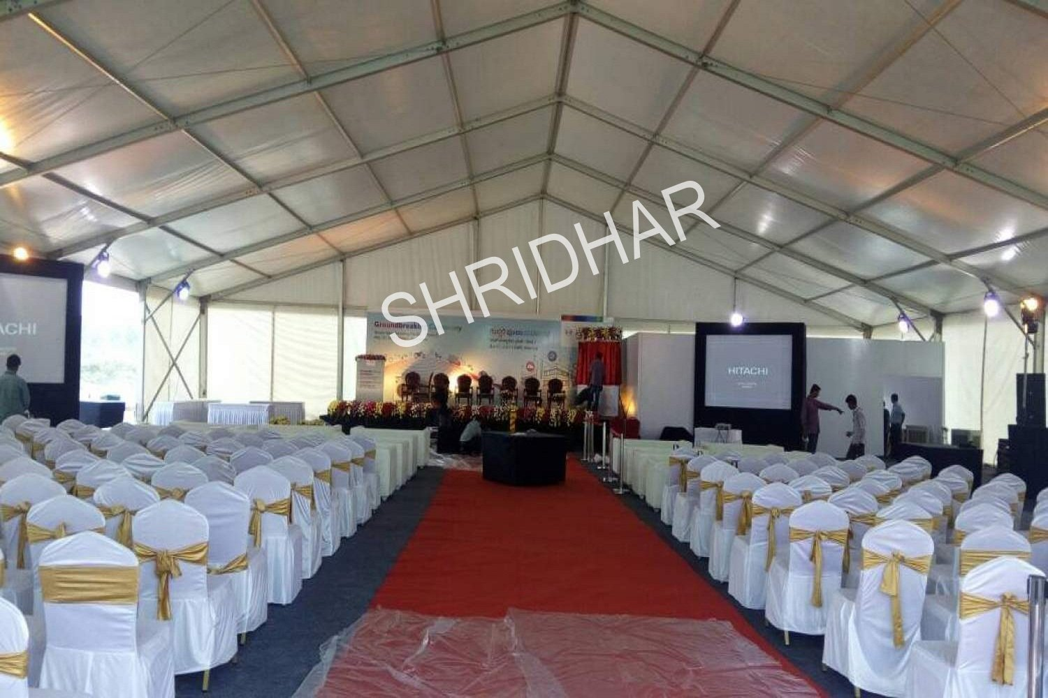 synthetic red carpets banquet chairs for rent for conferences in bangalore shridhar tent house