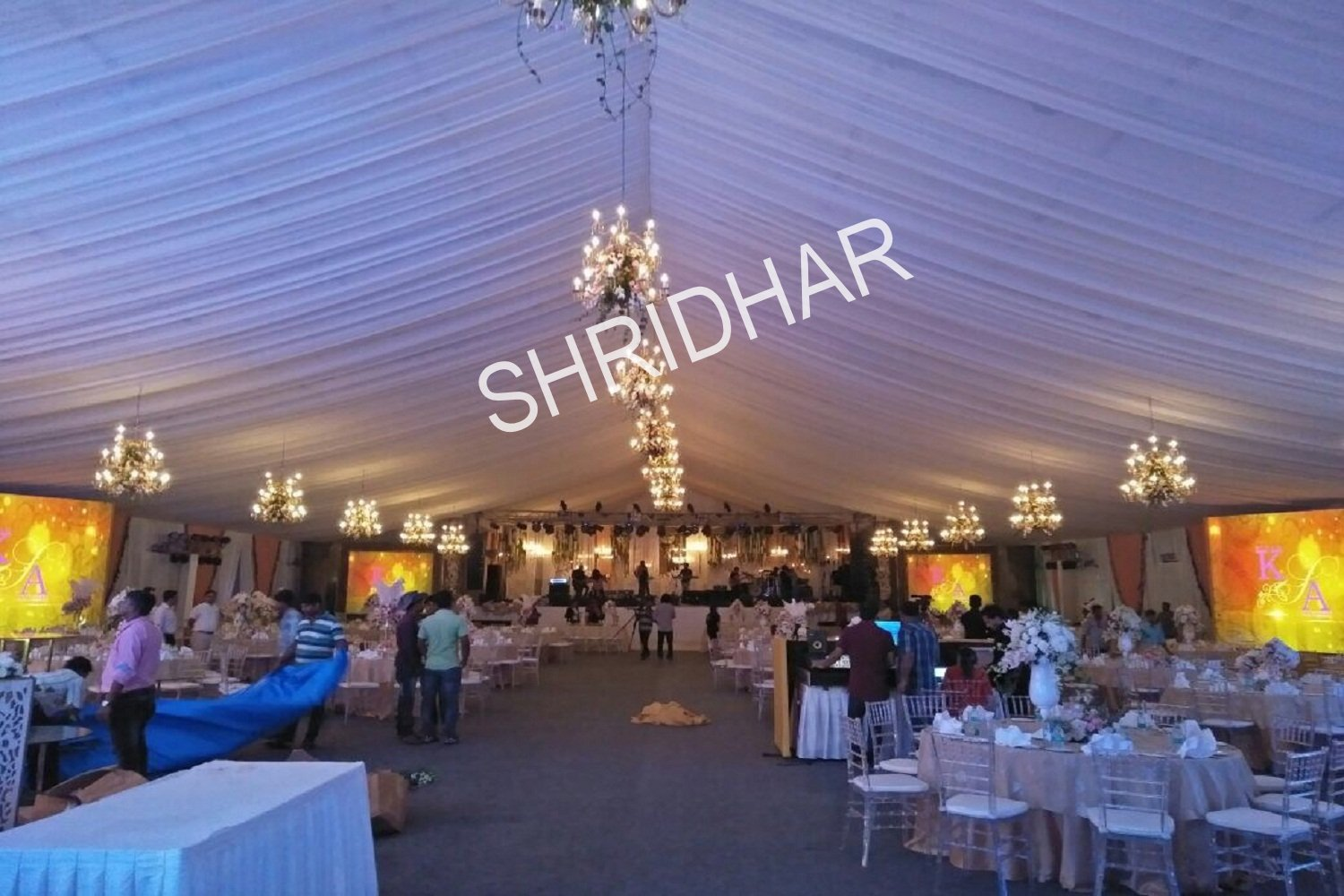 banquet tables chairs tents for rent for weddings in bangalore shridhar tent house