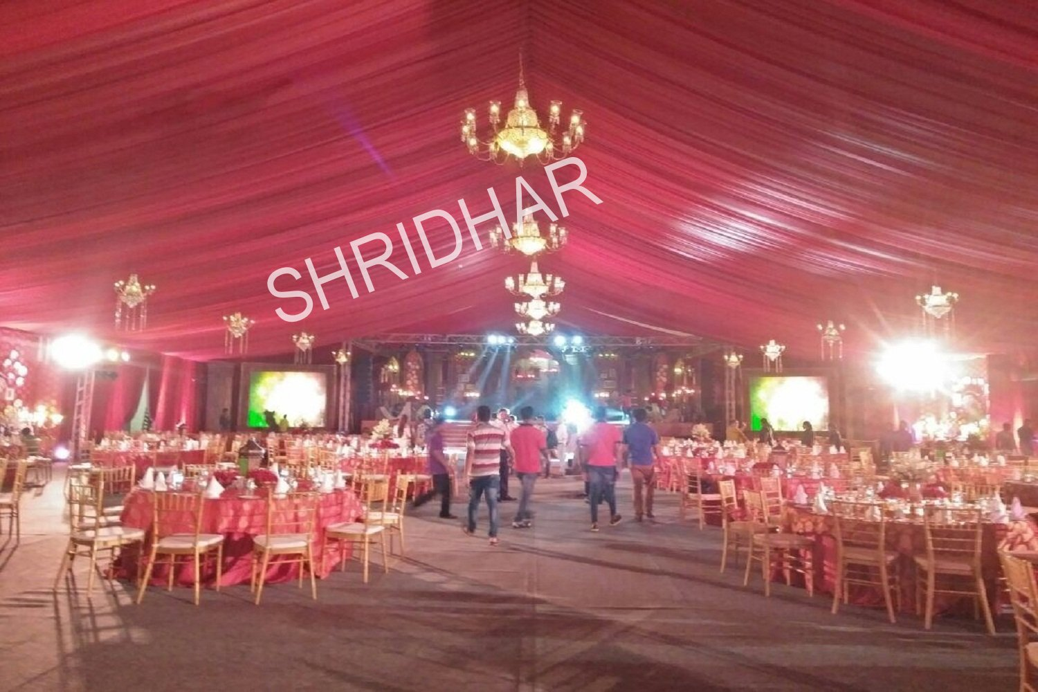 tables chairs tents canopies shamianas lights lighting for rent for weddings in bangalore shridhar tent house
