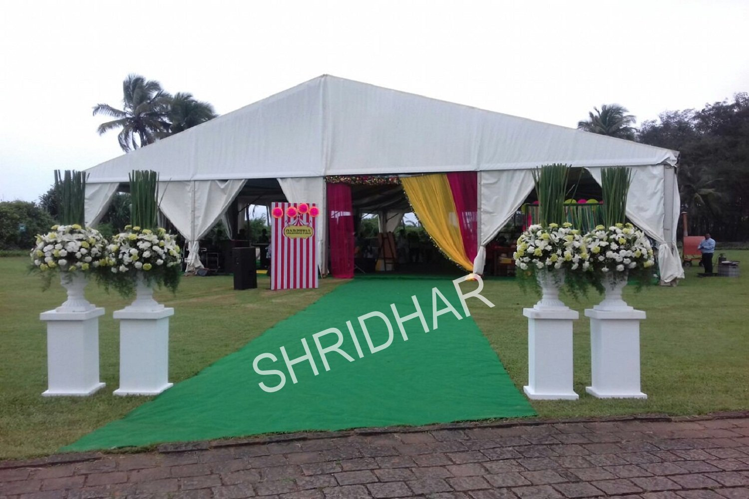 tent houses for rent for weddings and wedding functions from shridhar tent house in bangalore
