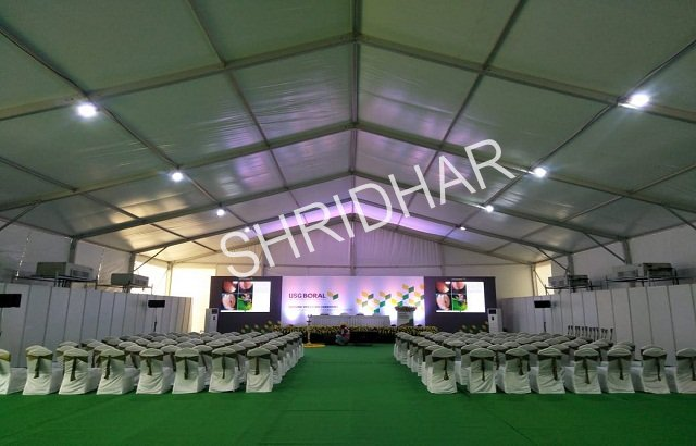air conditioned german hanger for rent shridhar tent house bangalore
