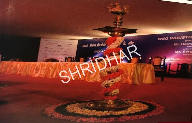 brass lamps for rent shridhar tent house bangalore