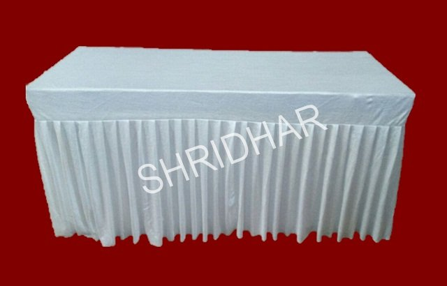 long tables with or without cloth covering for rent shridhar tent house bangalore