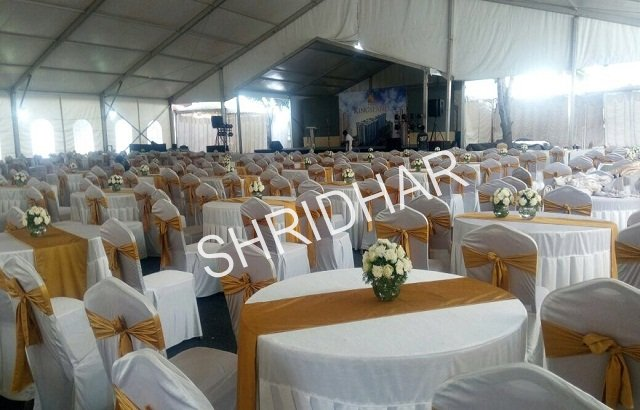 round tables with or without cloth covers for rent shridhar tent house bangalore